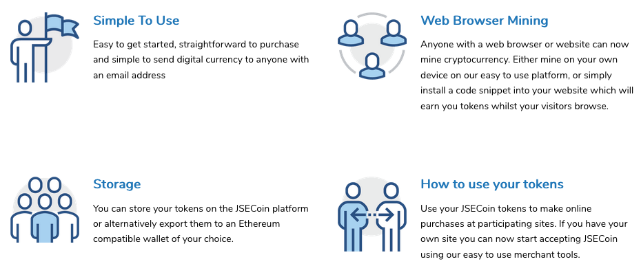 JSECoin | Simplifying Cryptocurrency, Commerce, Mining and User